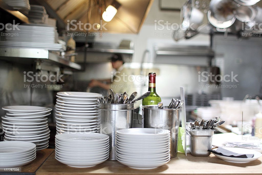 Stainless steel kitchen stock photo
