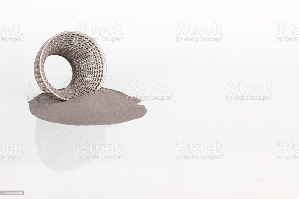 Stainless steel metal powder stock photo