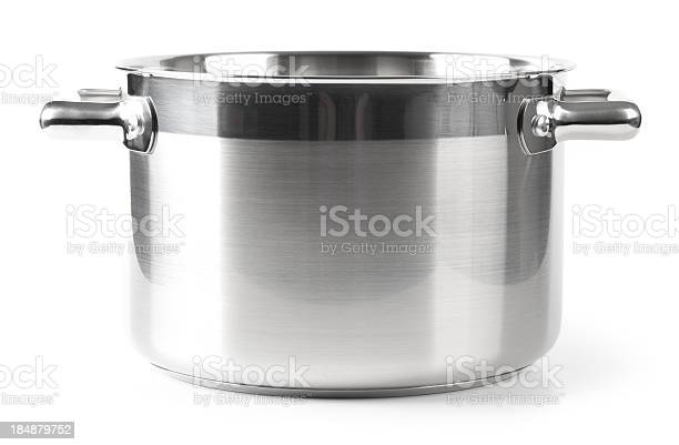 """Stainless steel Pan on white. This file is cleaned, retouched and contains"""