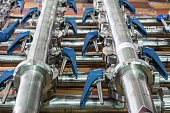 istock Stainless steel pipe system 845953032