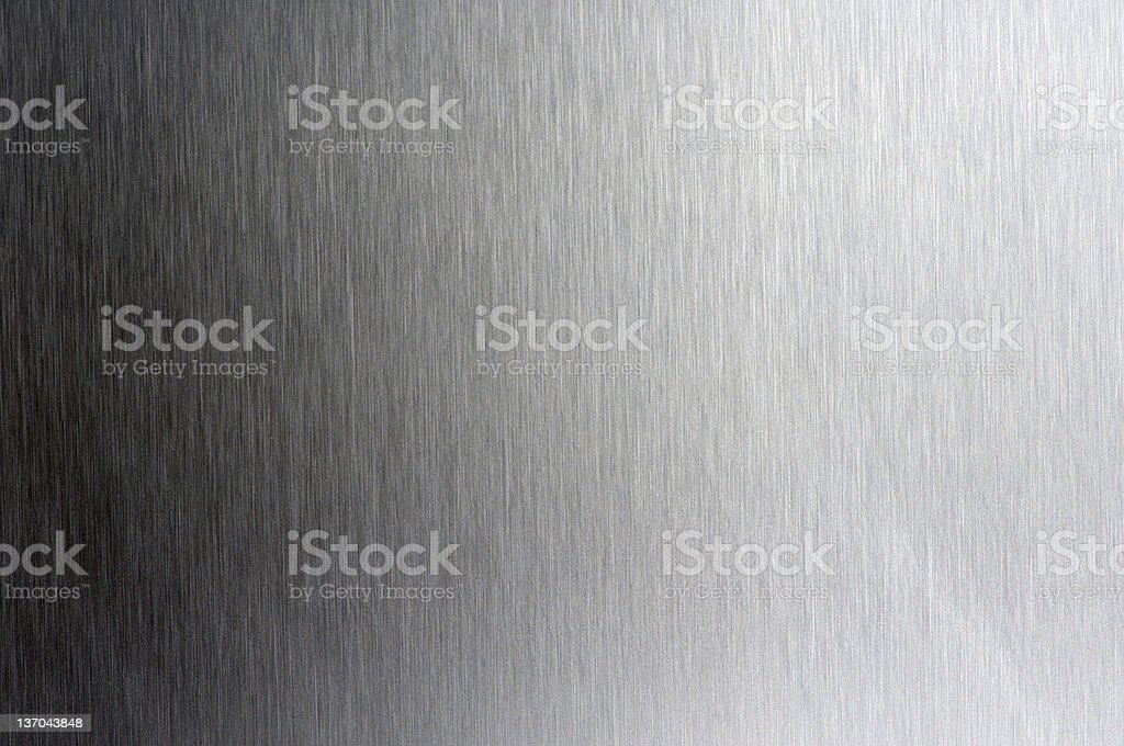 Stainless steel plate, toned verikal royalty-free stock photo