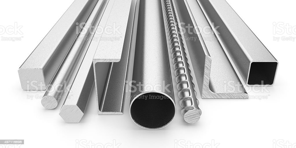 Stainless steel products stock photo