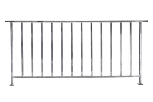 stainless steel railing isolated - rail stock photos and pictures