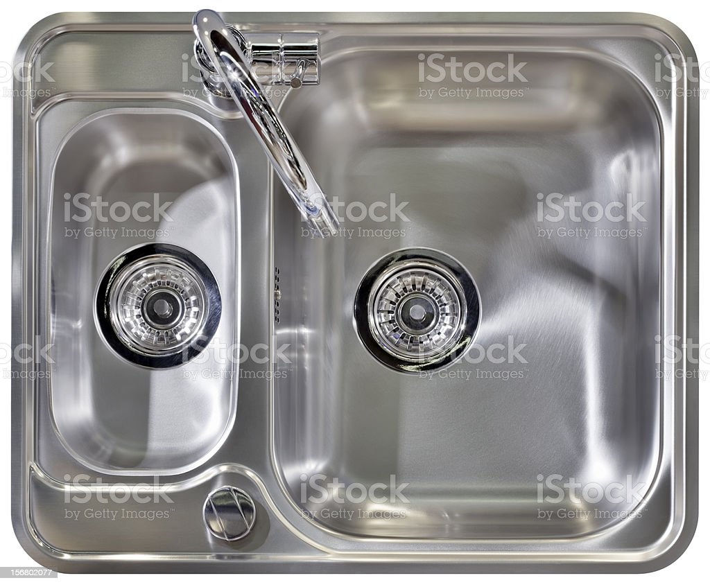 Stainless steel ready to install sink  stock photo