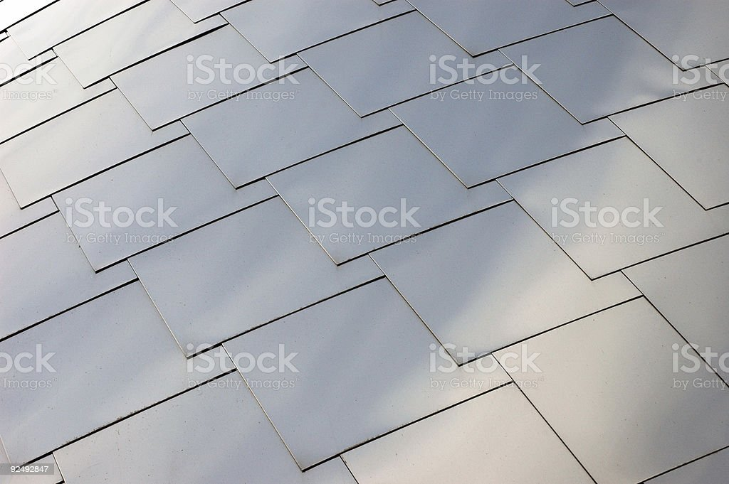 Stainless steel roof pattern royalty-free stock photo