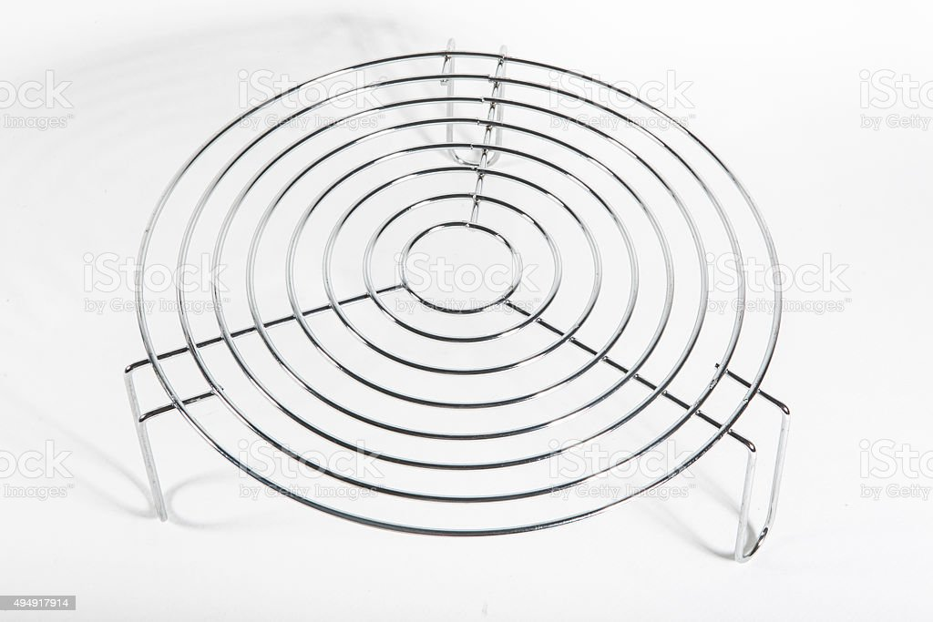 Stainless Steel Round Hot Plate Dining Table Royalty Free Stock Photo