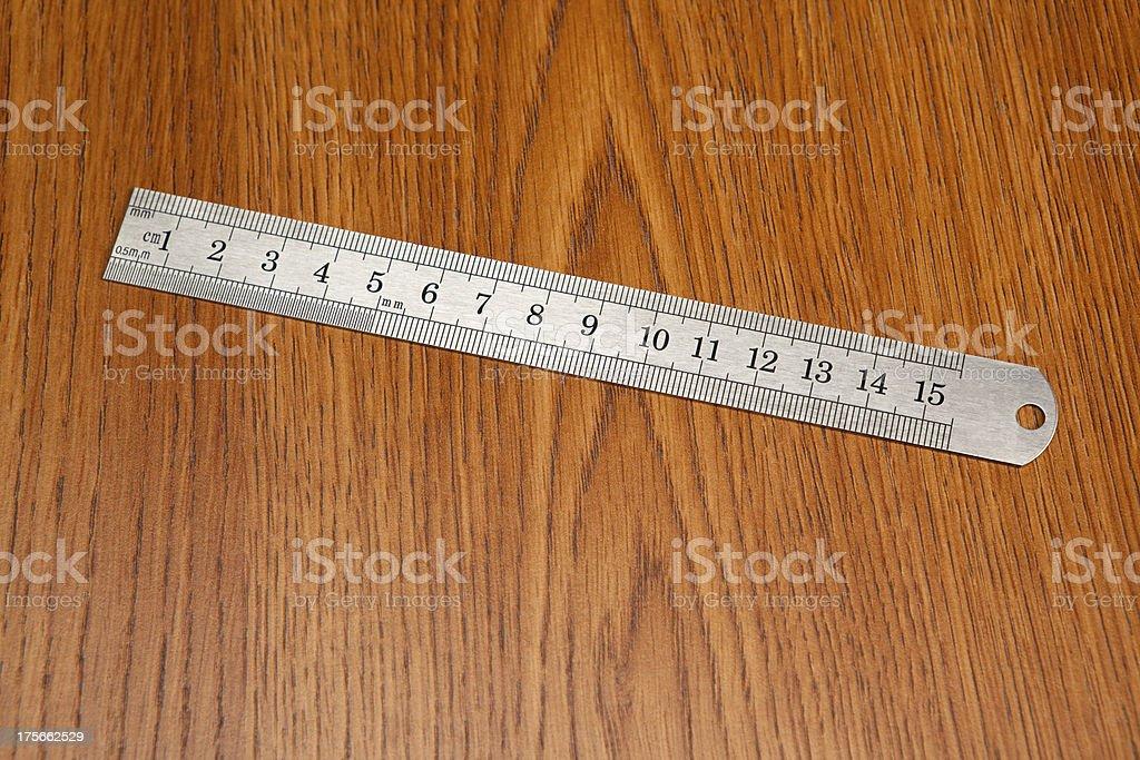 Stainless Steel Ruler stock photo