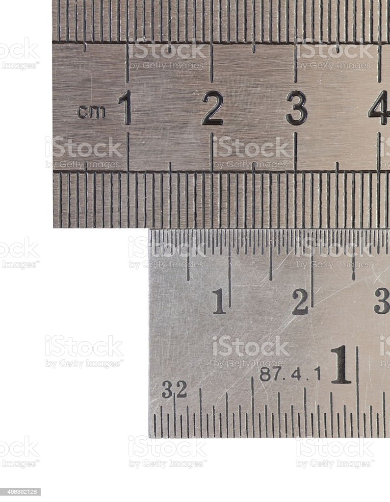Stainless steel ruler royalty-free stock photo