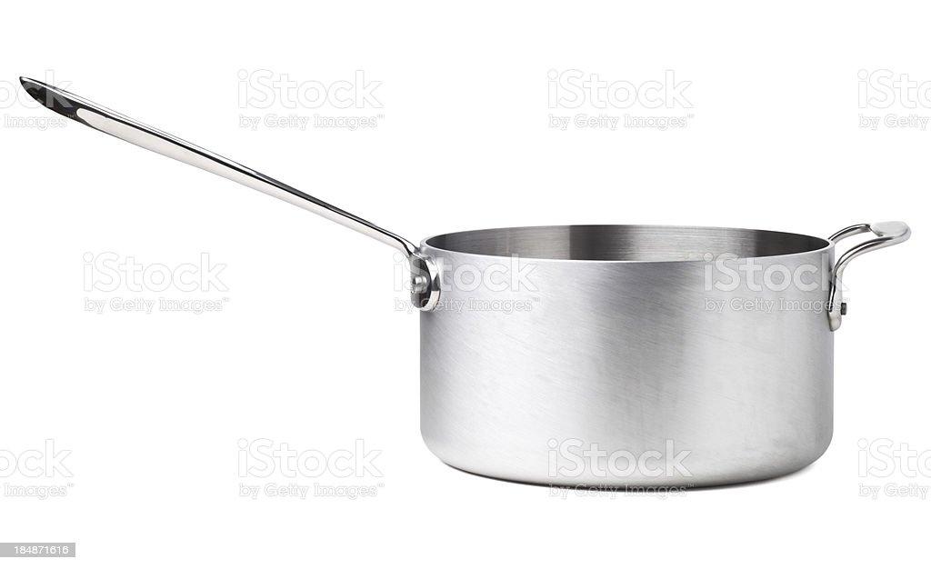 Stainless Steel Saucepan stock photo