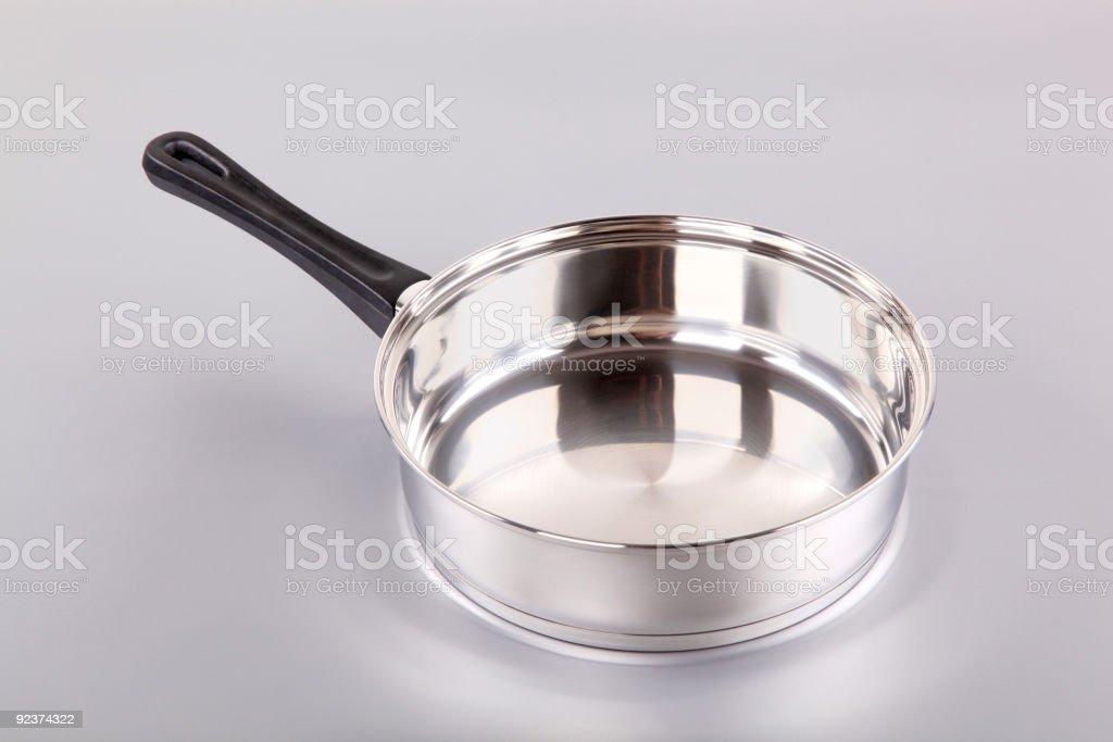 Stainless steel saucepan royalty-free stock photo