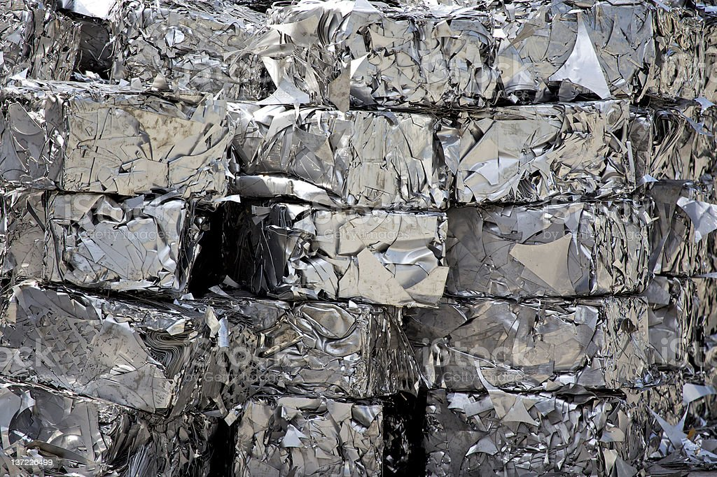 Stainless steel scrap royalty-free stock photo