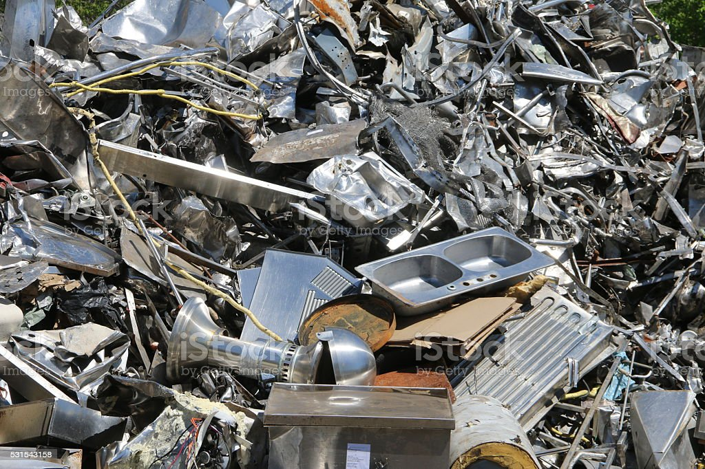 Stainless Steel Scrap stock photo