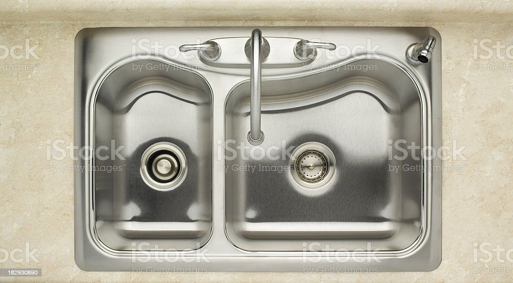 kitchen sink top view. Stainless Steel Sink Stock Photo Kitchen Top View