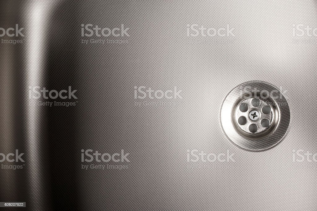 stainless steel sink stock photo
