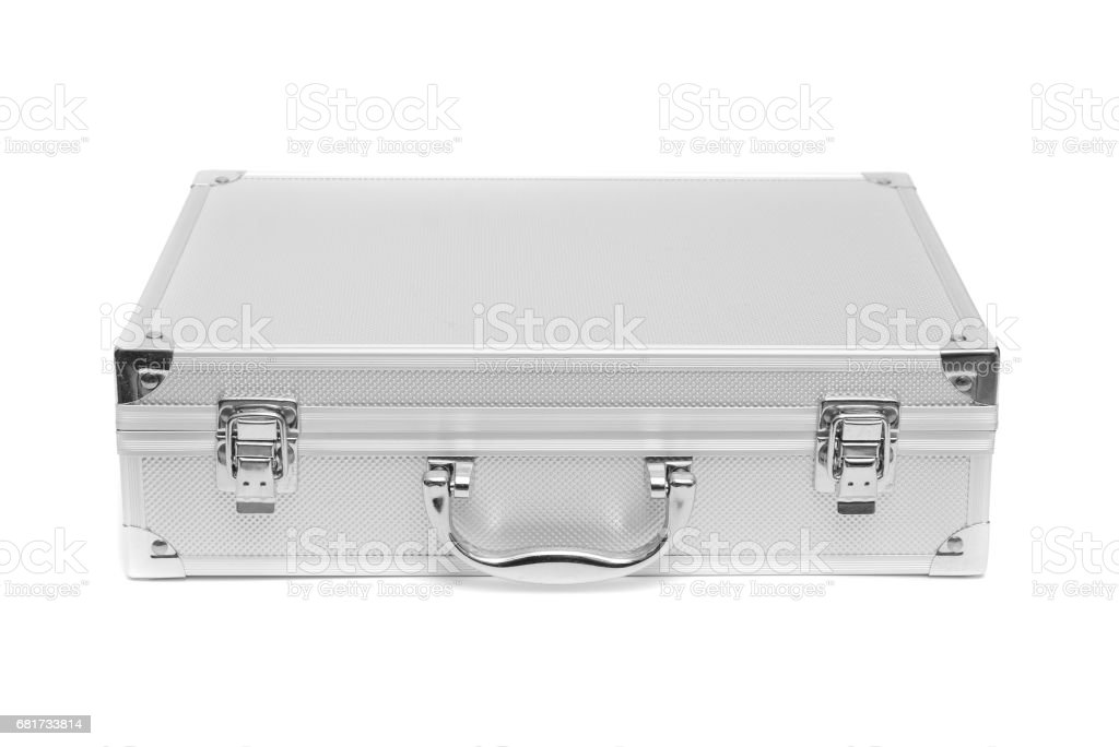 Stainless Steel Suitcase Storage Box Isolated On White Background  Royalty Free Stock Photo