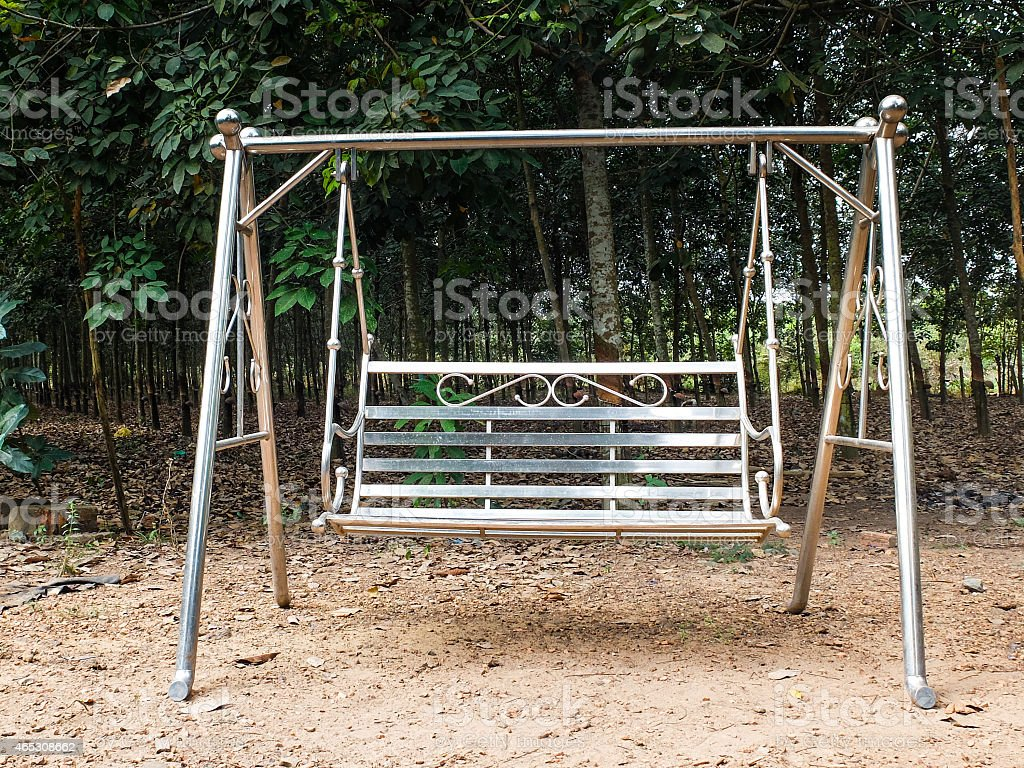 Stainless steel swing stock photo