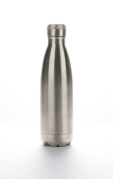 stainless steel thermos tumbler mug. tumbler bottle cold store. - riutilizzabile foto e immagini stock