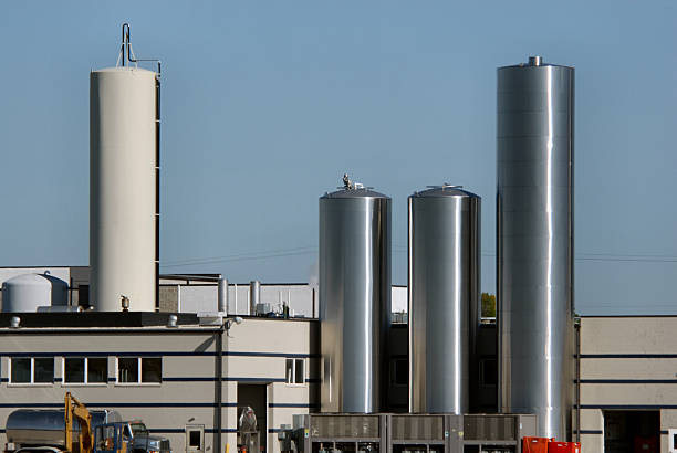 Edelstahl, Towers at Dairy Plant – Foto