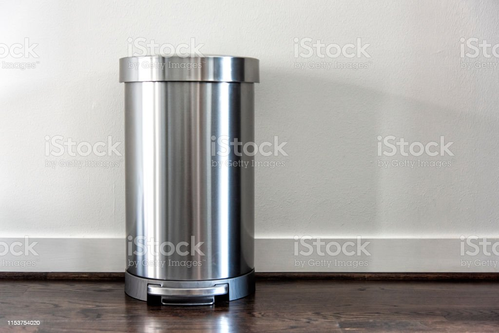 Stainless Steel Trash Can Stock Photo Download Image Now Istock