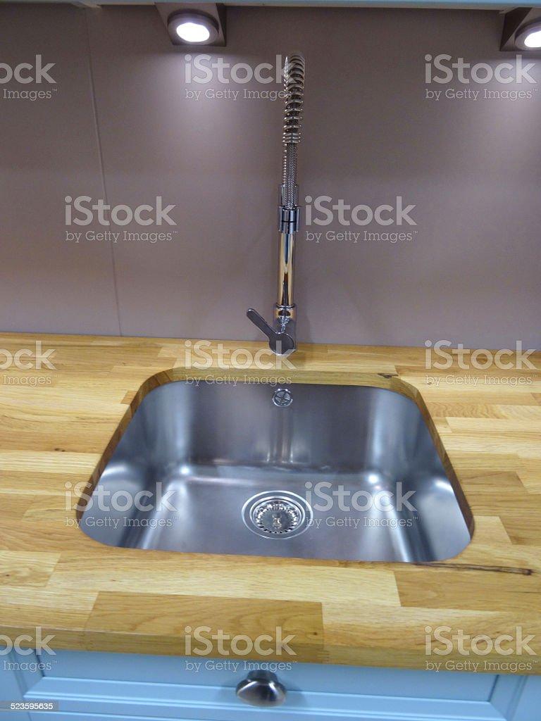 Stainlesssteel Kitchen Sink Single Basin Realoak Wood ...