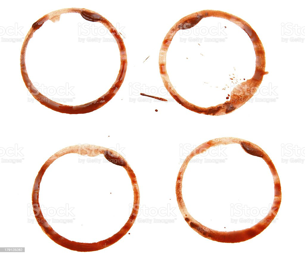 Stains from coffee. royalty-free stock photo
