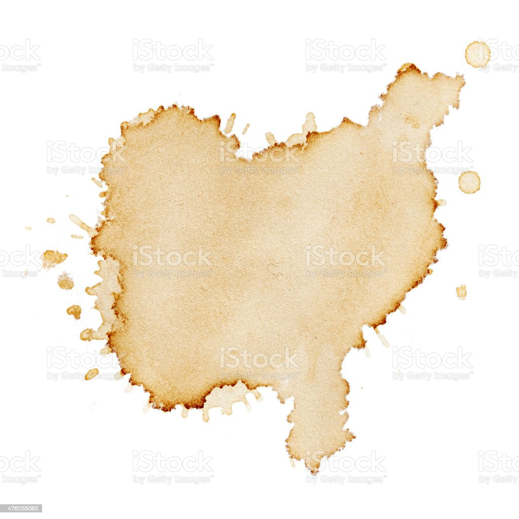 Stains of coffee stock photo