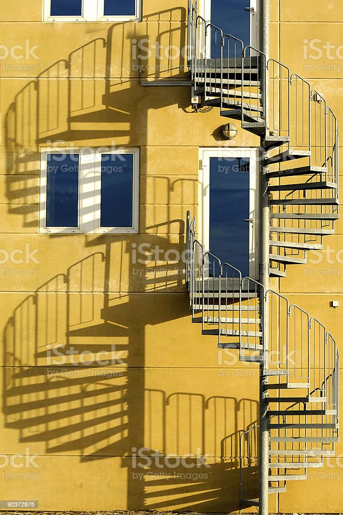 Stair and shade royalty-free stock photo