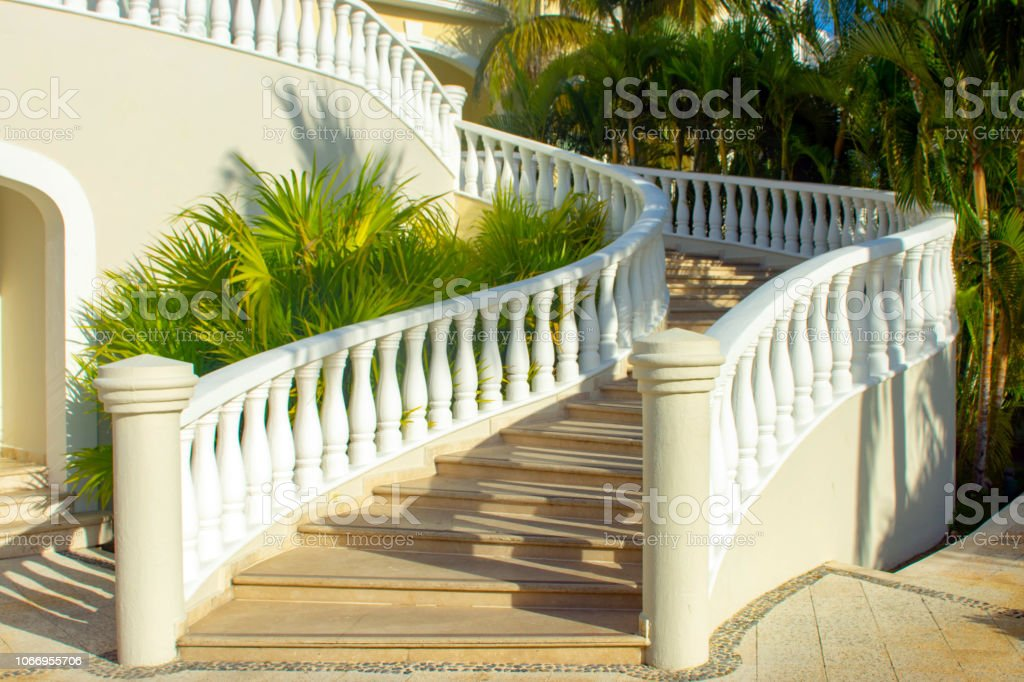 A Stair Bannister Outdoors Stock Photo   Download Image Now ...