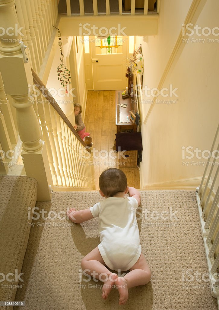 stair danger stock photo