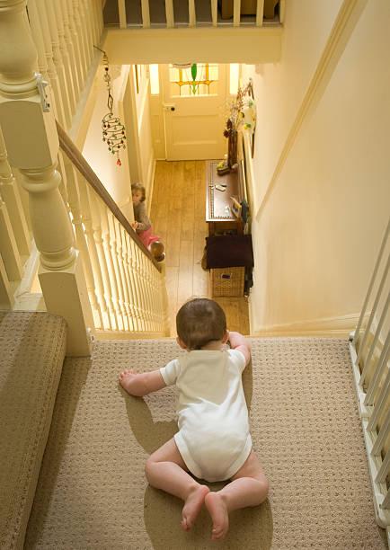 stair danger stock photo