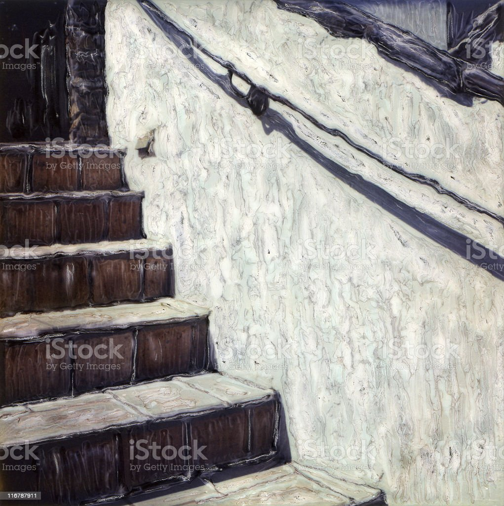 Stair Detail royalty-free stock photo