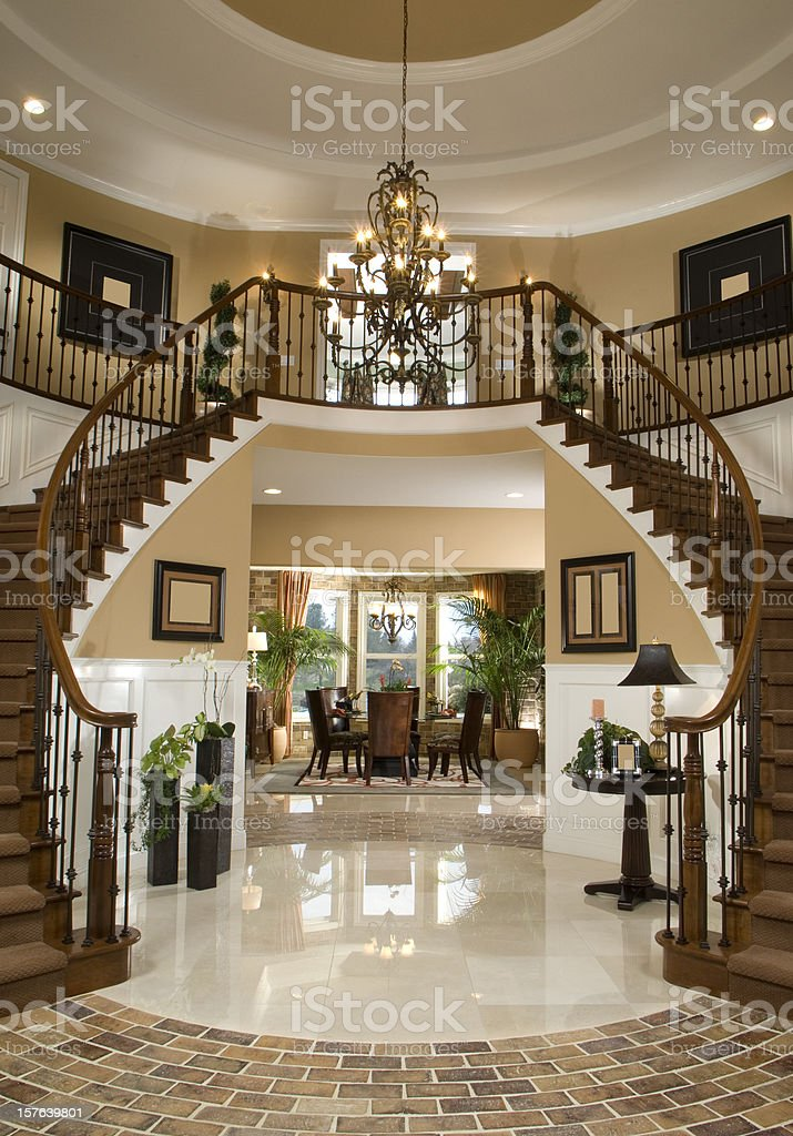 Stair Entry Interior Design Home stock photo