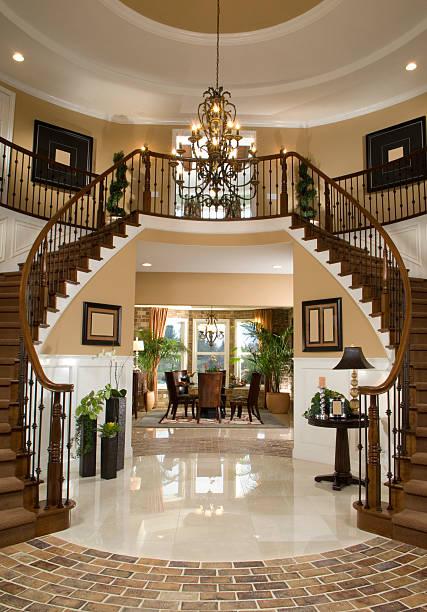 Stair Entry Interior Design Home stock photo