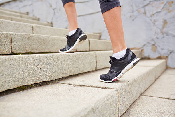 Stair exercise stock photo