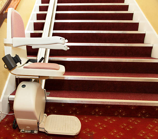 stair lift for the disabled stock photo