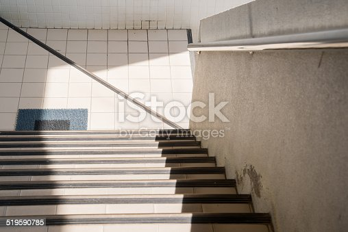 istock Stair light and shadow 519590785