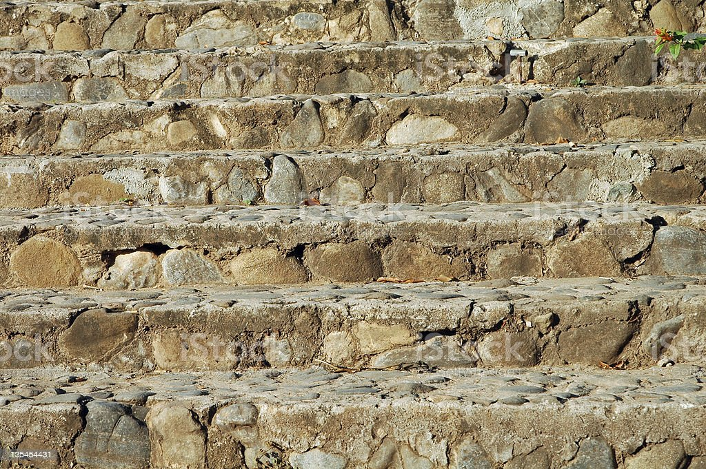 stair of natural stone stock photo