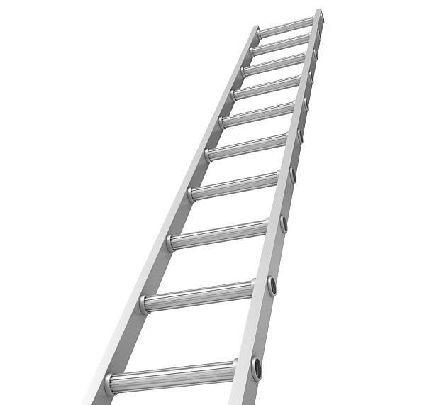 stair on white background - ladder stockfoto's en -beelden