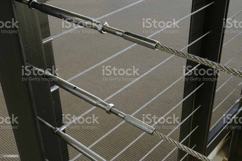 Stair Railing Detail royalty-free stock photo