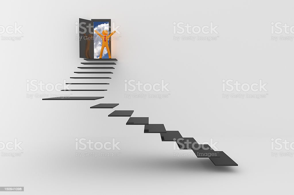 Stair to new success stock photo