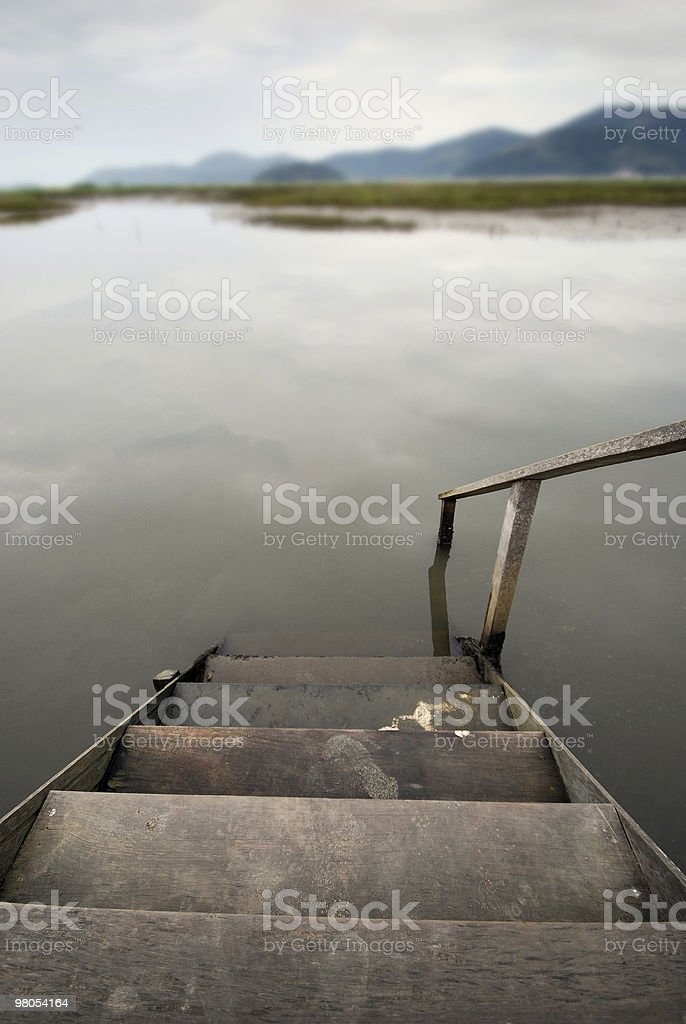 Stair to the water royalty-free stock photo