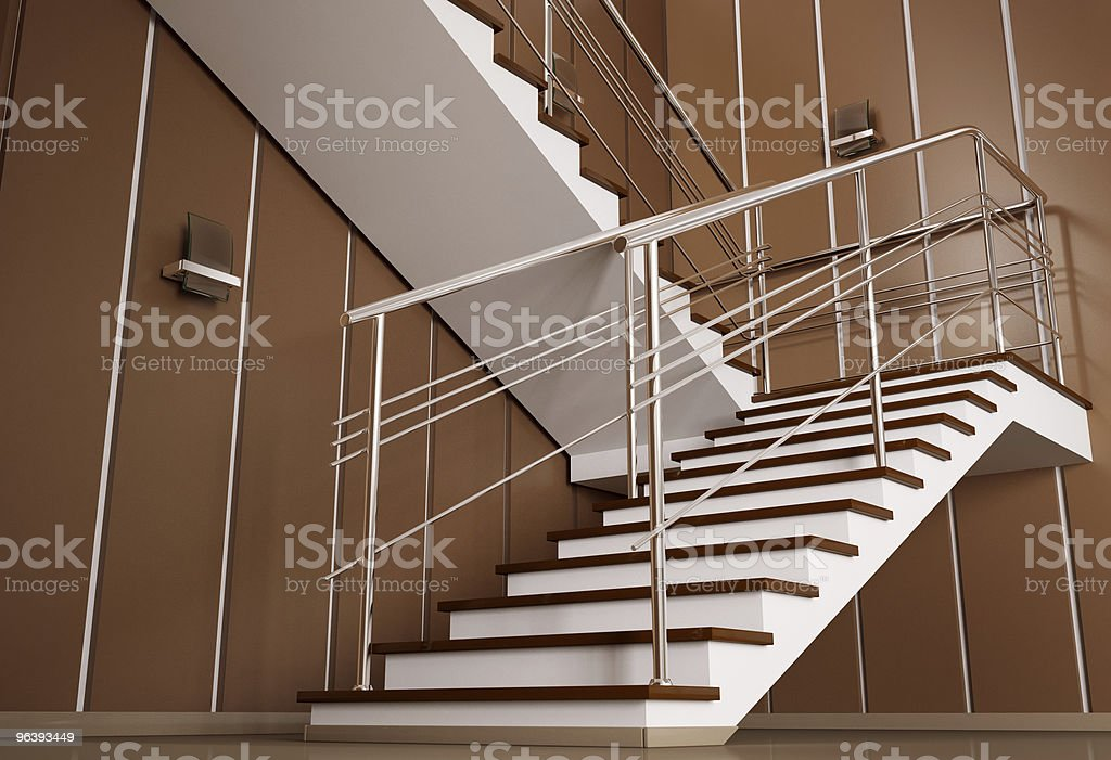 Staircase 3d - Royalty-free Beige Stock Photo