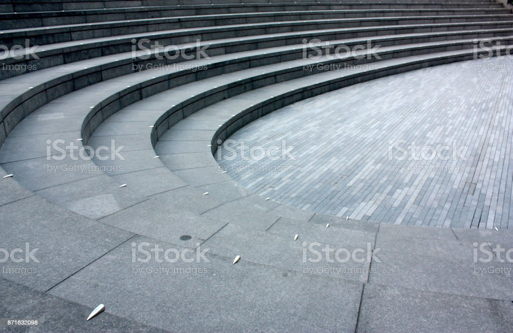 staircase amphitheater stock photo