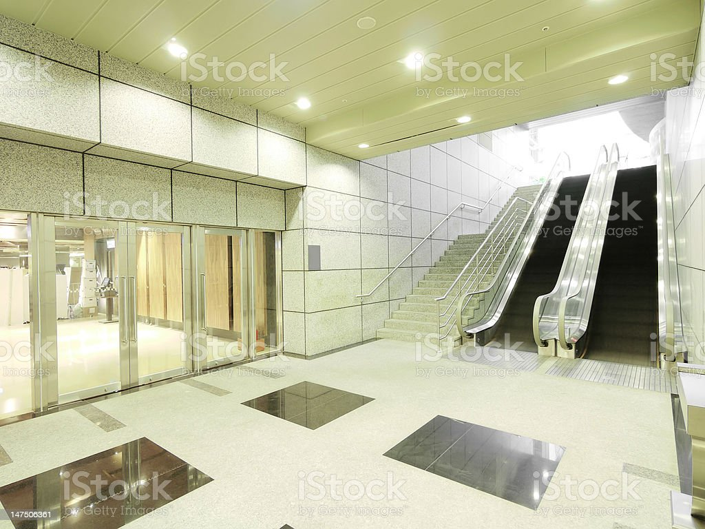 Staircase and entrance in underground