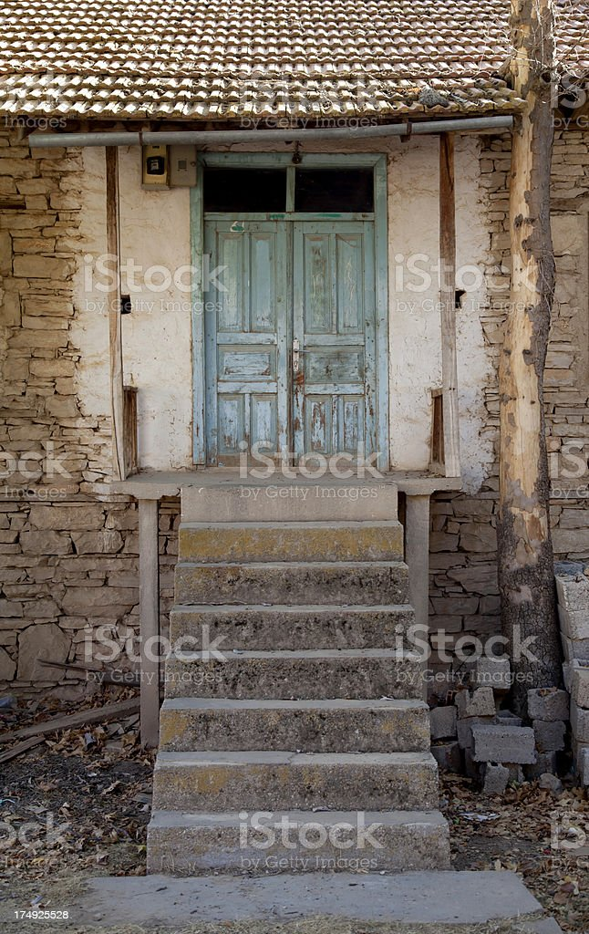 staircase and house royalty-free stock photo