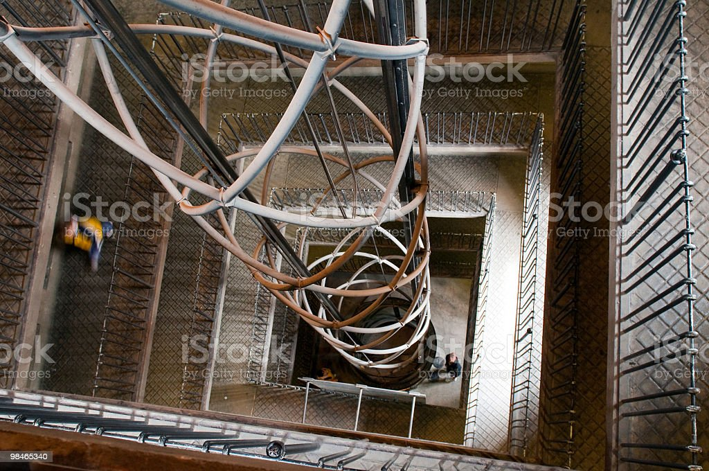 staircase and lift in old town hall. Prague royalty-free stock photo