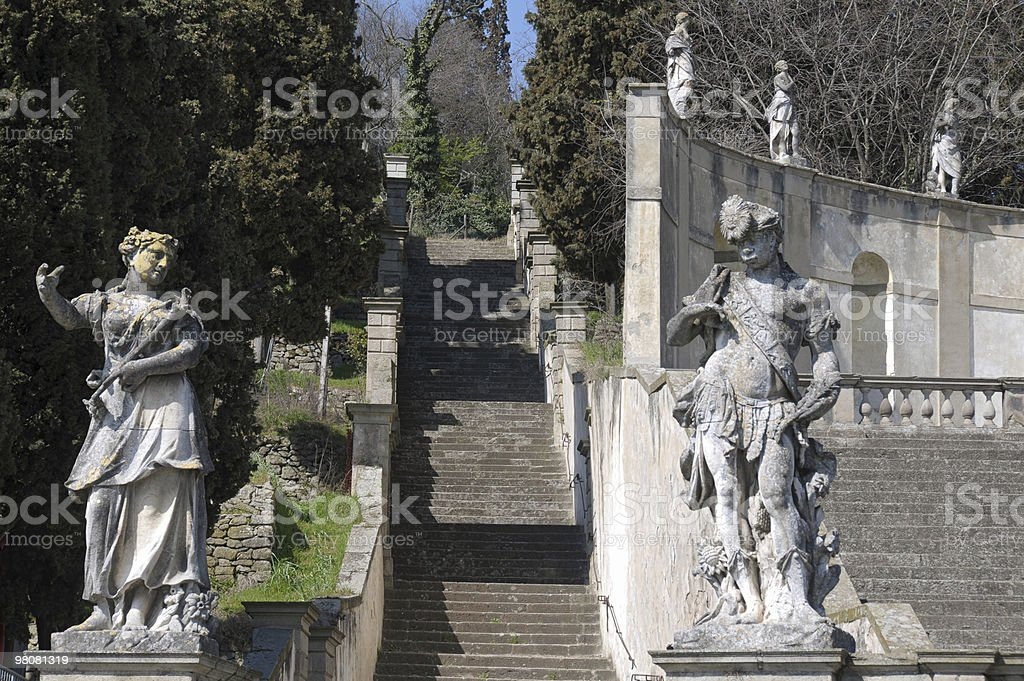Staircase and statues royalty-free stock photo