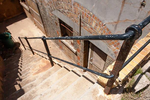 Staircase at bermuda stock photo