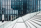 Staircase at modern office buildings area
