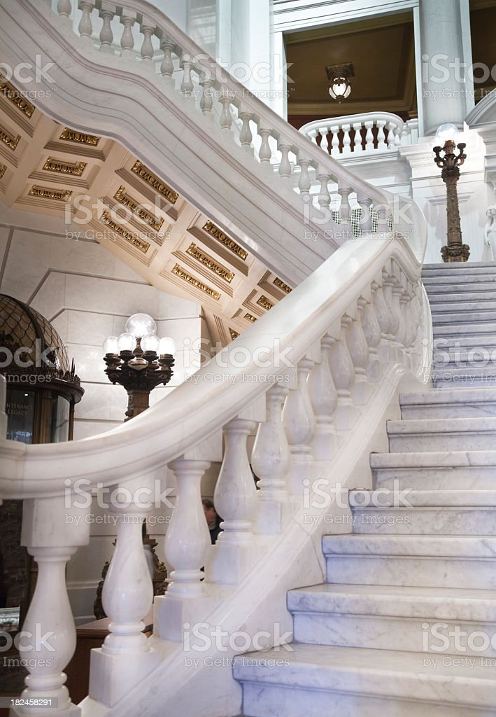 Staircase at the Pennsylvania Capitol royalty-free stock photo
